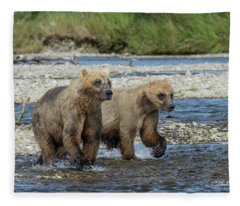 Cubs On The Prowl Fleece Blanket