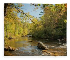 Cullasaja River Nc Fleece Blanket