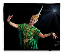 Cultural Thai Dance Fleece Blanket