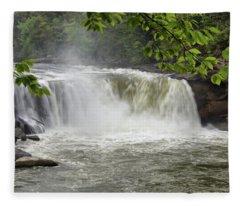 Cumberland Falls Close-up Fleece Blanket