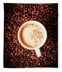 Cup And The Coffee Store Fleece Blanket