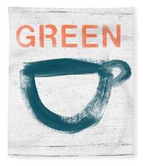 Cup Of Green Tea- Art By Linda Woods Fleece Blanket