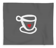 Coffee Cup Fleece Blankets