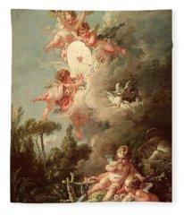 Cupids Target Fleece Blanket
