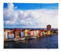 Curacao Oil Fleece Blanket