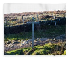 Curbar Edge Which Way To Go Fleece Blanket