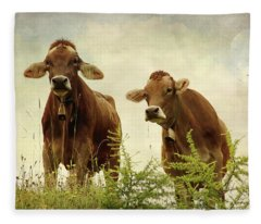 Curious Cows Fleece Blanket