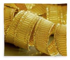 Curls Of Gold Fleece Blanket