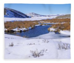 Currant Creek On Ice Fleece Blanket