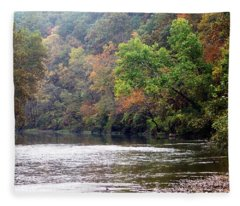 Current River Fall Fleece Blanket