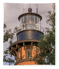 Currituck Beach Lighthouse Close-up Fleece Blanket