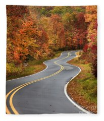 Curvy Road In The Mountains Fleece Blanket