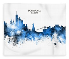 Custom New York Skyline Fleece Blanket