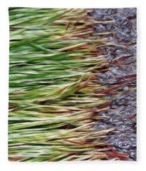 Cut Grass And Pebbles Fleece Blanket