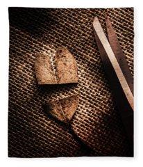 Cut Heart Leaf, Fall Of Love Fleece Blanket