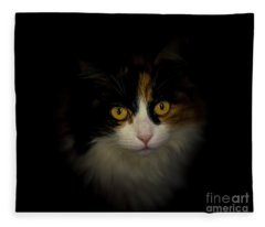 Fleece Blanket featuring the photograph Cute Cat by Mats Silvan