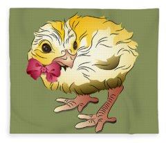 Cute Chick Fleece Blanket