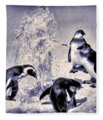 Cute Penguins Fleece Blanket