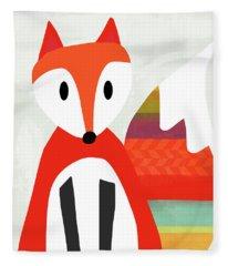 Cute Red Fox 2- Art By Linda Woods Fleece Blanket
