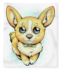 Cutie Corgi Fleece Blanket