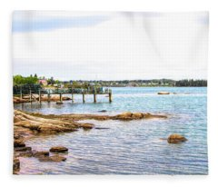 Cutler Pier Fleece Blanket