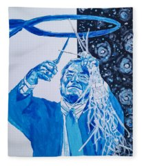 Cutting Down The Net - Dean Smith Fleece Blanket
