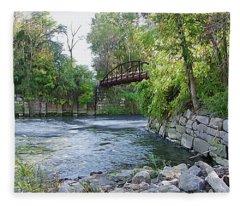 Cuyahoga River At Peninsula Fleece Blanket