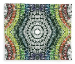 Cymatics Geometry #1548 Fleece Blanket