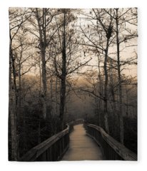 Cypress Boardwalk Fleece Blanket