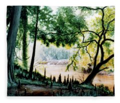 Cypress Knees Fleece Blanket
