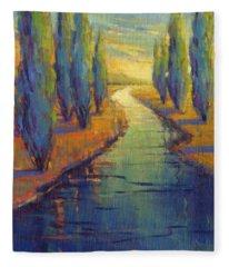 Cypress Reflection Fleece Blanket