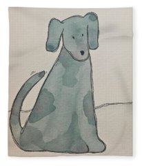 D Is For Dog Fleece Blanket