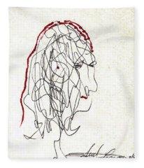 Da Vinci Drawing Fleece Blanket