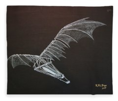 Da Vinci Flying Machine Fleece Blanket