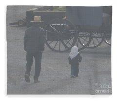 Dad And Daughter Fleece Blanket