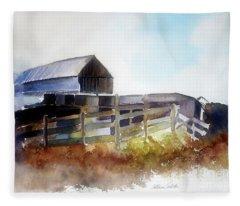 Dad's Farm House Fleece Blanket