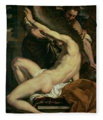 Daedalus And Icarus Fleece Blanket