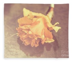 Daffodil Reflections  Fleece Blanket