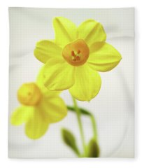 Daffodil Strong Fleece Blanket