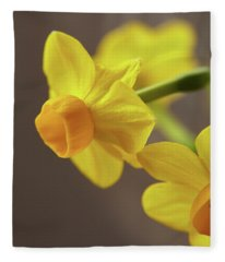 Daffodil Sunrise Fleece Blanket