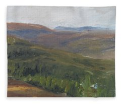 Dagrar Over Salenfjallen - Shifting Daylight Over Distant Horizon 1 Of 10_0034 50x50 Cm Fleece Blanket