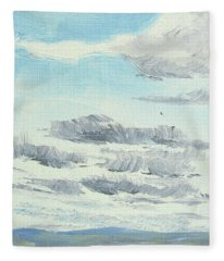 Dagrar Over Salenfjallen- Shifting Daylight Over Distant Horizon 10 Of 10_0029 Fleece Blanket