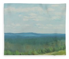 Dagrar Over Salenfjallen- Shifting Daylight Over Distant Horizon 3 Of 10_0029 50x40 Cm Fleece Blanket
