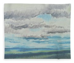Dagrar Over Salenfjallen- Shifting Daylight Over Distant Horizon 8 Of 10_0029 Fleece Blanket
