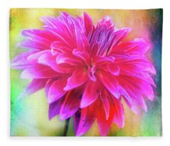 Dahlia Abstract Fleece Blanket