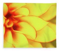 Dahlia Flower Abstract Fleece Blanket