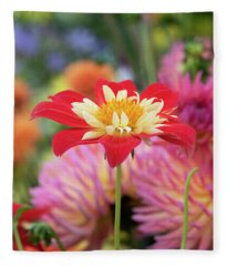 Dahlia La Gioconda Fleece Blanket