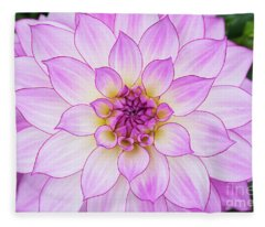 Dahlia Oriental Dream Fleece Blanket