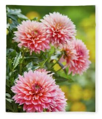 Dahlia Passion Fruit Fleece Blanket