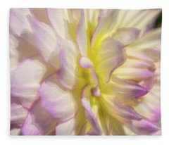 Dahlia Study 5 Painterly  Fleece Blanket